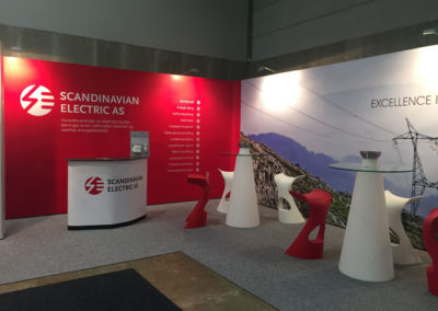 Mobiler Messestand Scandinavian Electric AS