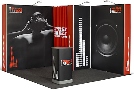 Pop Up flexiler Messestand 3x3 m