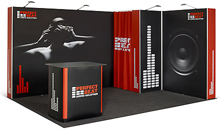Pop Up flexiler Messestand 4x3 m