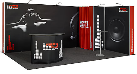 Pop Up flexiler Messestand 5x3 m