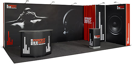 Pop Up flexiler Messestand 6x3 m